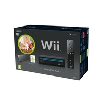 Nintendo Wii schwarz + Wii Fit Plus + Balance Board (Bundle)