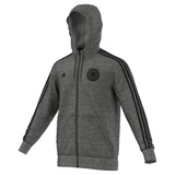 adidas DFB Herren 3 Streifen Kapuzenjacke EM 2016 dark grey heather/black S
