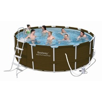 BESTWAY Steel Pro Pool Set 427 x 122 cm inkl. Filterpumpe (12801)