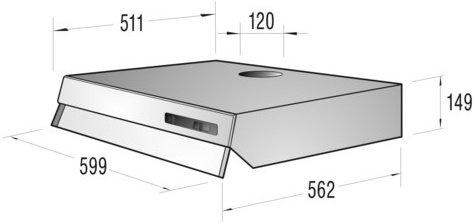 gorenje du6111e unterbauhaube 60cm ab 37 99 im preisvergleich. Black Bedroom Furniture Sets. Home Design Ideas