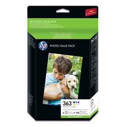 HP 363 Multipack color (Q7966EE) + Fotopapier