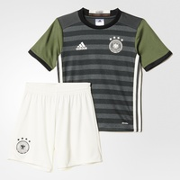 adidas DFB Kinder Auswärts Minikit EM 2016 dark grey heather/off white/base green Gr. 98