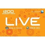 Microsoft Xbox 360 1200 Live Points Card