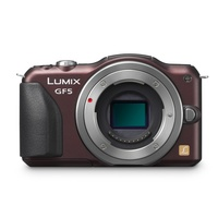 Panasonic Lumix DMC-GF5 braun + Sigma 30mm