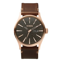 Nixon The Sentry Leather Rose Gold / Brown A1052001
