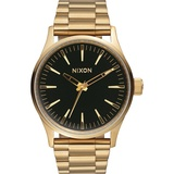 Nixon The Sentry 38 SS Gold / Black Sunray A4501604