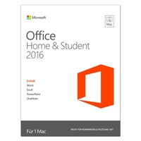 Microsoft Office Home and Student 2016 PKC DE Mac