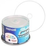 CD-R 80 Min/700 MB Maxell 52x white fullprintable in Cakebox 50 Stück