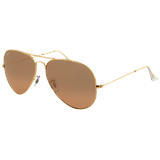 Ray Ban Aviator Large Metal RB3025 001/3E arista crys.brown / pink silver mirror