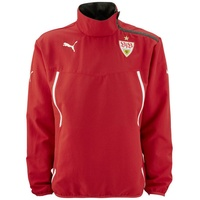 Puma VfB Stuttgart Kinder Alwetterjacke team regal red/dark gray heather Gr. 140