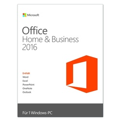 Microsoft Office Home and Business 2016 ESD DE Win