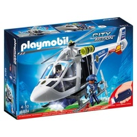 playmobil City Action Polizei-Helikopter mit LED-Su (6874)