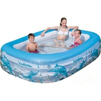 BESTWAY Deluxe Rectangular Family Pool 229 x 152 x 56 cm