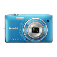 Nikon Coolpix S3500 blau ornament