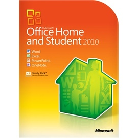 Microsoft Office Home and Student 2010 Family Pack 3 User DE Win