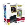 Sony PS3 Slim 160 GB + Gran Turismo 5 (Platinum) + LittleBigPlanet 2 (Platinum) (Bundle)