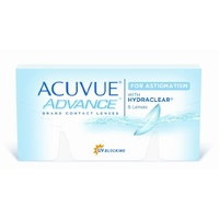 Johnson & Johnson Acuvue Advance for Astigmatism 6 St. / 8.60 BC / 14.50 DIA / -4.00 DPT / -2.25 CYL / 170° AX