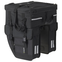 Basil Doppeltasche Tour Travel mit Topcase black