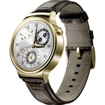 Huawei Watch Elite mit Lederarmband gold