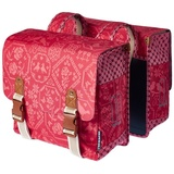 Basil Boheme Double Bag - Radtaschen Set - vintage red
