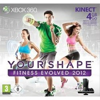 Microsoft Xbox 360 Slim 4 GB + Your Shape: Fitness Evolved 2012 + Kinect Adventures (Bundle)