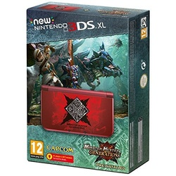 Nintendo New Nintendo 3DS XL rot + Monster Hunter Generations (Bundle)