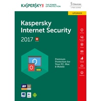 Kaspersky Lab Internet Security 2017 UPG PKC 5 User DE Win Mac Android iOS