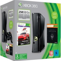 Microsoft Xbox 360 Slim 250 GB + Forza Motorsport 4 + The Elder Scrolls: Skryrim (Bundle)