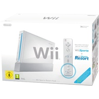 Nintendo Wii weiß + Wii Sports + Wii Sports Resort + Motion Plus Controller (Bundle)