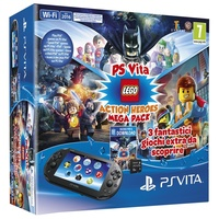 Sony PS Vita WiFi Lego Action Heroes Mega Pack 8GB
