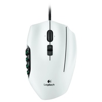 Logitech G600 MMO Optical Gaming Mouse weiß