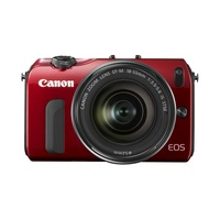 Canon EOS M rot + 18-55mm IS STM