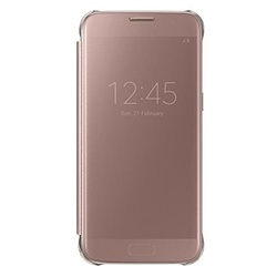 Samsung Clear View Cover EF-ZG935 für S7 edge pink-gold