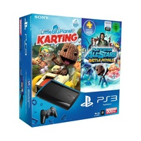 Sony PS3 Super Slim 500 GB + LittleBigPlanet Karting + PlayStation All-Stars Battle Royale (Bundle)