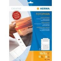 HERMA 7586 Fotophan Fotosichthüllen 10x15 cm quer weiß 10 Hüllen