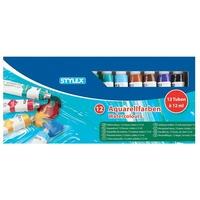 Aquarellfarbe, 12 Tuben à 12 ml