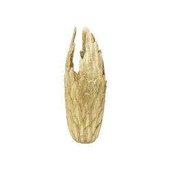 KARE Dekovase Vase Feathers Gold 91cm
