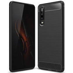 TPU Hülle für Huawei P30 Handy Schutzhülle Carbon Optik Schutz Case