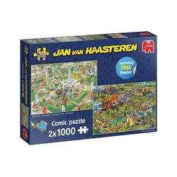 Jumbo Spiele Puzzle 19099 Jan van Haasteren 2x 1000 Teile Comic Puzzle, 1000 Puzzleteile