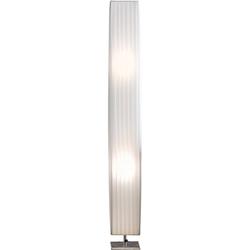 SalesFever Stehlampe Emilie, Plissee Lampenschirm