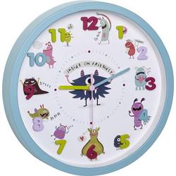 TFA Dostmann Little Monsters Quarz Wanduhr 30.9cm x 4.4cm Türkis