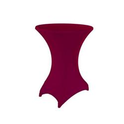 Stehtischhusse, dynamic24, Premium Gastro Stretch Tisch Husse für Stehtische Ø 60-70cm Bistrotisch Stehtisch Überwurf Tischdecke rot