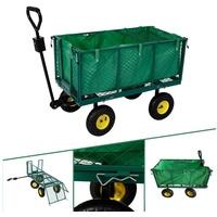 Arebos Bollerwagen Gartenwagen mit herausnehmbarer Plane   550kg