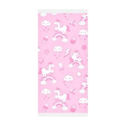 TOP! Handtuch Einhorn - Strandtuch, 70x140 cm, rosa (1-St), 100% Baumwolle