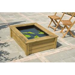 Ubbink Brunnenumrandung QUADRO Wood I, für Teichbecken Quadro 5