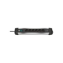 Brennenstuhl Premium-Alu-Line Steckdosenleiste 6-fach, 2x USB Steckdosenleiste