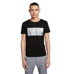TOM TAILOR Denim T-Shirt mit Hologramm-Print L (50/52)