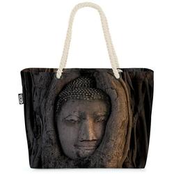 VOID Strandtasche (1-tlg), Buddha Kopf Baum Beach Bag Hinduismus Buddhismus Jainismuss Elefant Gott