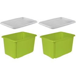 keeeper Stapelbox emil (Set, 2 Stück) grün