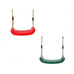 LeNoSa Einzelschaukel Kinderschaukel • stabiler Schaukelsitz Kunststoff 42 x 16 cm / max. 50 kg grün